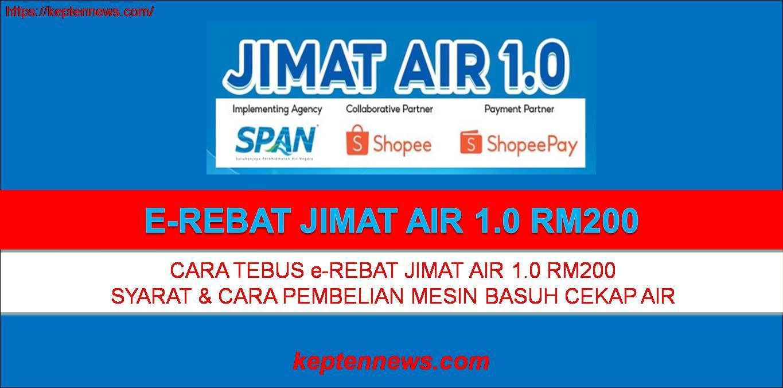 Jimat Air 1.0:Cara Tebus e-Rebat RM200 Pembelian Mesin Basuh Cekap Air