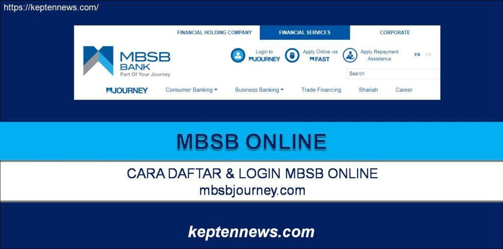 MBSB Online:Cara Daftar Login MBSB Online mbsbjourney.com